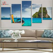 railay beach canvas paintings bule sea weter landscape modular pictures for living room home decor modern