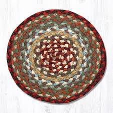 thistle green country red 46 417 round trivet 10x10