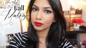 easy fall makeup brown smokey eyes with red lips tamanna palette you