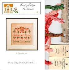 Peppermint Lane Kit Cross Stitch Pattern By Country Cottage Needleworks 27 5 Skeins Weeks Dye Works Crescent Colors Floss Christmas