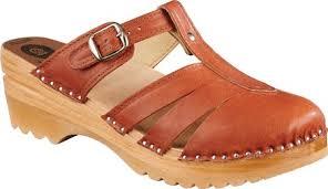 Troentorp Bastad Clogs Mary Jane Womens Oregon Leather