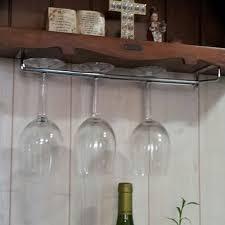 Wine Glass Hangers Under Cabinet Hanging Wine Glass Rack Drinking Glasses Storage Under Cabinet