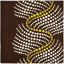 safavieh soho brown beige 6 ft x 6 ft square area rug