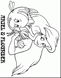 Small Picture The Little Mermaid Coloring Pages Ariel And Flounder Coloring Pages