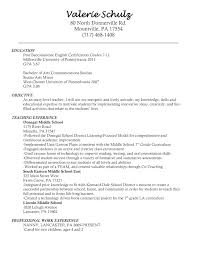 objective for teaching resume resume teaching resume objective