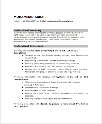 Drafting Resume Examples Best 48 Draftsman Resume Templates Free Word PDF Document Downloads