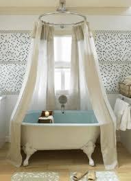 Small Clawfoot Tub Mirror Mosaic Tile Backsplash Shower Curtain 54 ...