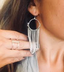 Premier Designs Inside Out Earrings Havana Hoop Tasseled Earrings Premier Designs Jewelry