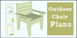 outdoor chair plans easy to build
