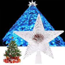 Colorful Changing Xmas Christmas Tree Topper Star Light LED Lamp  Decorations party lights christmas outdoor decor
