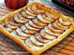 puff pastry apple tart with caramel