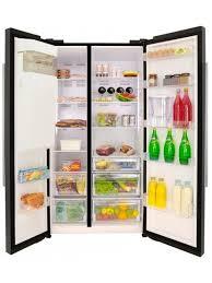 beko freestanding american style fridge freezer asp341b