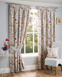 sundour luxury fl hampshire fully lined 3 inch header pencil pleat curtains multi available in 9 sizes