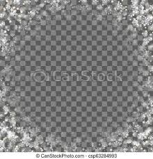 Snowflakes Falling Isolated Overlay On Transparent Background