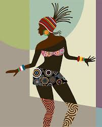 african woman african american art black woman painting african wall art african art painting black woman african decor