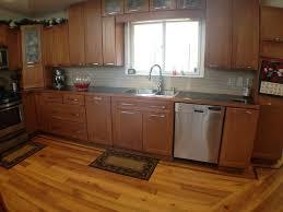 Red Wood Floor Kitchen