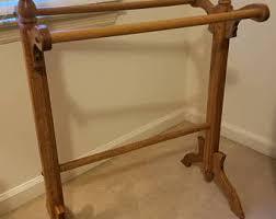 Linen rack   Etsy & Vintage Oak Solid Wood Quilt Rack Adamdwight.com