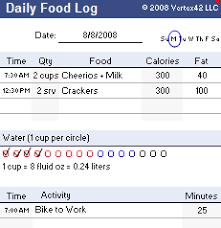 Tracking Meals Chart Food Log Template Printable Daily Food Log