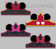 mouse paper crown party hat paper tiara printable for mouse