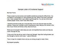 Letter Of Emotional Support