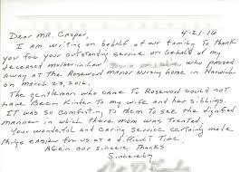 Testimonials Casper Funeral Cremation Services Massachusetts