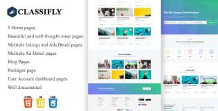 Ad Page Templates Classifly Classified Ads Html Template Bootstrap4