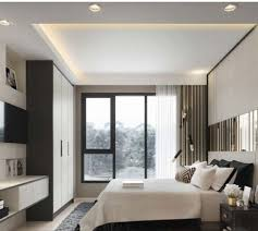 false ceiling with inside coves bedroom is coves on sides and lighting on coves