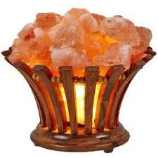 Genuine Himalayan Salt Lamp Interesting Genuine Himalayan Salt Lamp Wooden Basket Vitamin Of The Air UL