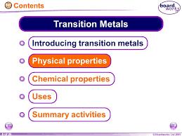 KS4 Chemistry Transition Metals. - ppt video online download