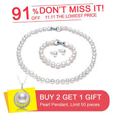2019 daimi baroque pearl jewelry sets necklace bracelet earrings pearl sets for women party jewelry wedding jewlery gift c18110201 from xiao0003