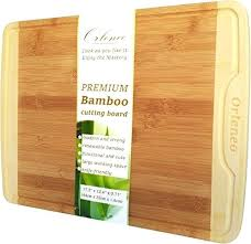 extra large wood cutting board organic bamboo chopping with juice groove and hygienic surface wide thick extra large wood cutting board