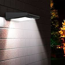 Blooma Oceanus Black 8W Solar Powered External Pir Security Light Solar Powered External Lights