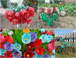 Decorated Plastic Bottles Plastic bottles crafts Ideas to reuse as garden decorations 22