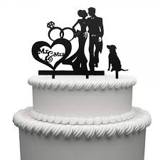 Mr And Mrs Cake Topper Acrylic Love Dog Wedding Cake Topper Funny