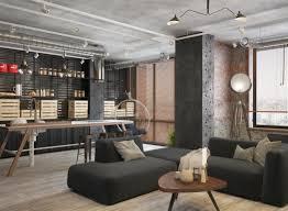 Stoer Interieurontwerp Van Een Industriële Woonkamer Huis