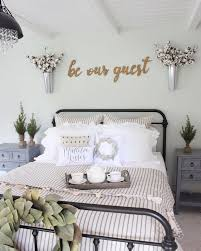 room style furniture. See This Instagram Photo By @prettypeachtree \u2022 210 Likes Farmhouse Guest Bedroom With Rod Iron Room Style Furniture