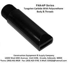 fan nozzle. pirate 427-205-67 tungsten carbide 3/8\ fan nozzle