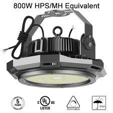 110 Volt Led Work Lights Abodong 200w Ufo Led High Bay Light 26000lm 5700k 1 10v Dimmable Led Shop Garage Warehouse Outddor Lighting Alternative To 800w Hps Mh With 110 277v