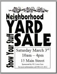 Community Garage Sale Flyer Template Community Garage Sale