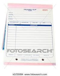 Pad Blank Packing Slips Invoices Isolated White Picture
