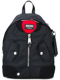 Jacket Backpack Moschino Bomber Jacket Effect Backpack In Black Lyst