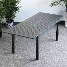 metal garden dining sets uk. large_modern_8_seater_grey_metal_top_practical_extending_garden_furniture_dining_table_set_2 metal garden dining sets uk