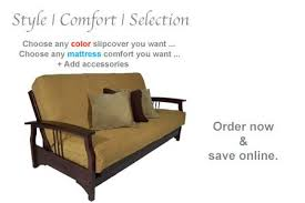 designer wood futon bed fremont dark