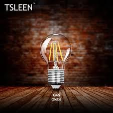 Tsleen Real Watt Vintage Led Edison Bulb E27 Led Filament Light Vintage Led Bulb Lamp 220v 110v Retro Candle Light 4w 16w