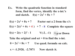 quadratic form calculator math ex write the quadratic function in standard mathias enard
