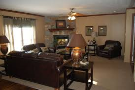 Unbelievable Small Low Ceiling Living Room Design Ideas With Corner Stone  Fireplace Also Black Leather Sofa