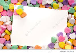 Templates Blank Note Card Surrounded Framed By Candy