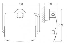 <b>Держатель туалетной бумаги</b> с крышкой (хром) <b>FBS</b> NOS 055 ...