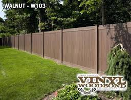 brown vinyl picket fence. Brown Vinyl Fencing Modern Fence With Tongue And Groove Privacy Shown In Grand Illusions 9 Dark Picket E