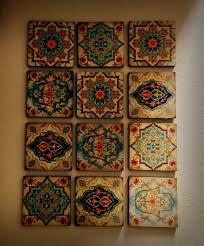 amazing idea wall art sets hamsa hand moroccan set blocks 8x8 of 12 zoom for living